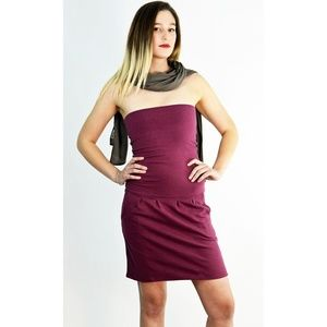 aede8354913 Ethos Paris Dresses - Ethos Paris Elfe Organic Dress in Plum Mélange 🌸